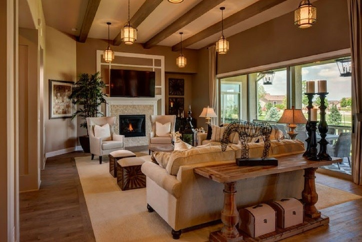 Toll Brothers model great room in Anthem Ranch