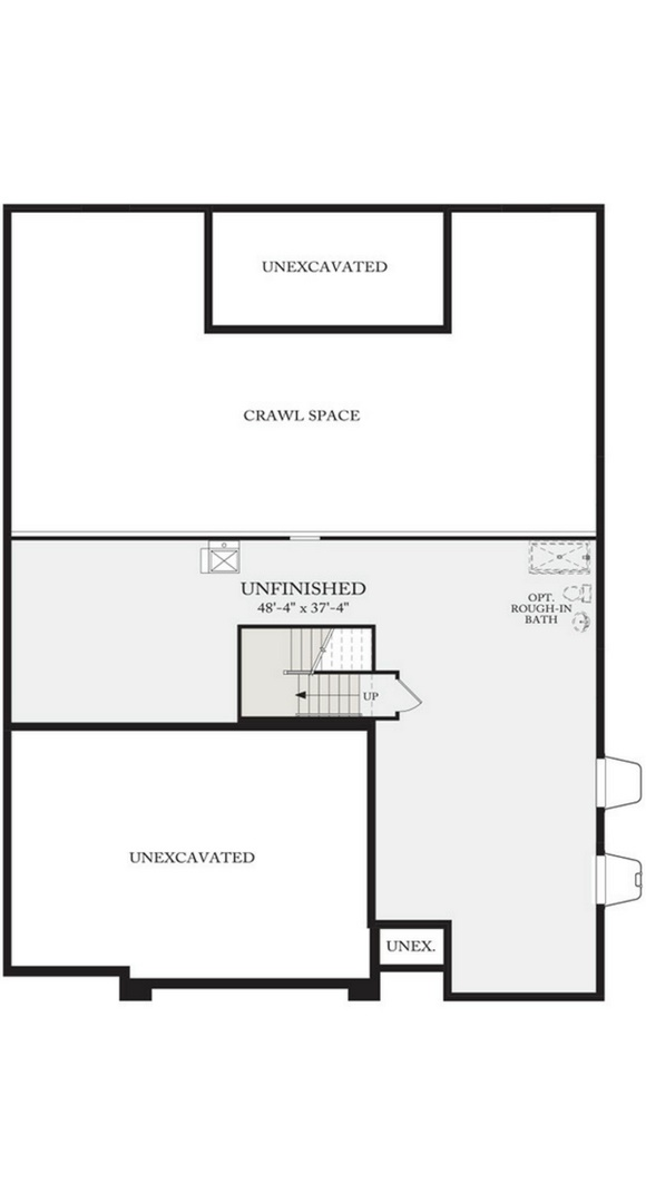 Residence 5A01 basement plan, a Beautiful Colorado Model New Home by CalAtlantic