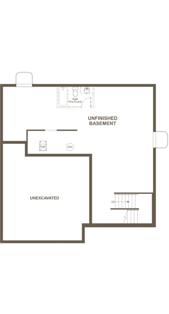 Bedford basement, a Beautiful Colorado Model New Home by Richmond American