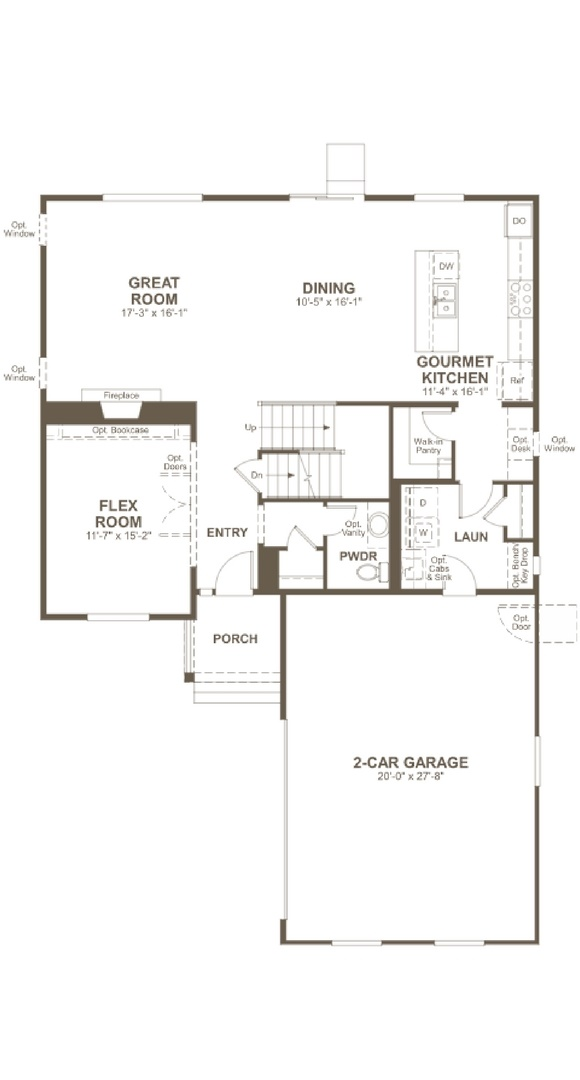 Skylar main level, a Beautiful Colorado Model New Home by Richmond American
