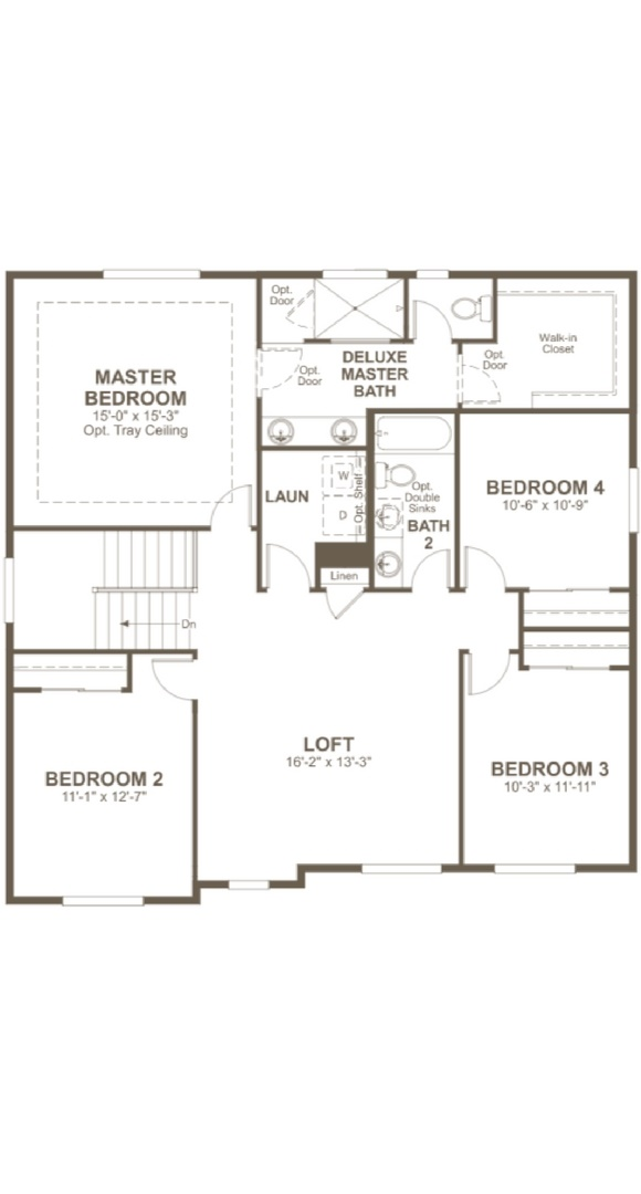 Hemingway second level, a Beautiful Colorado Model New Home by Richmond American