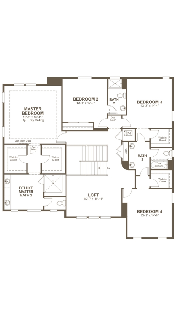 Dayton second level, a Beautiful Colorado Model New Home by Richmond American