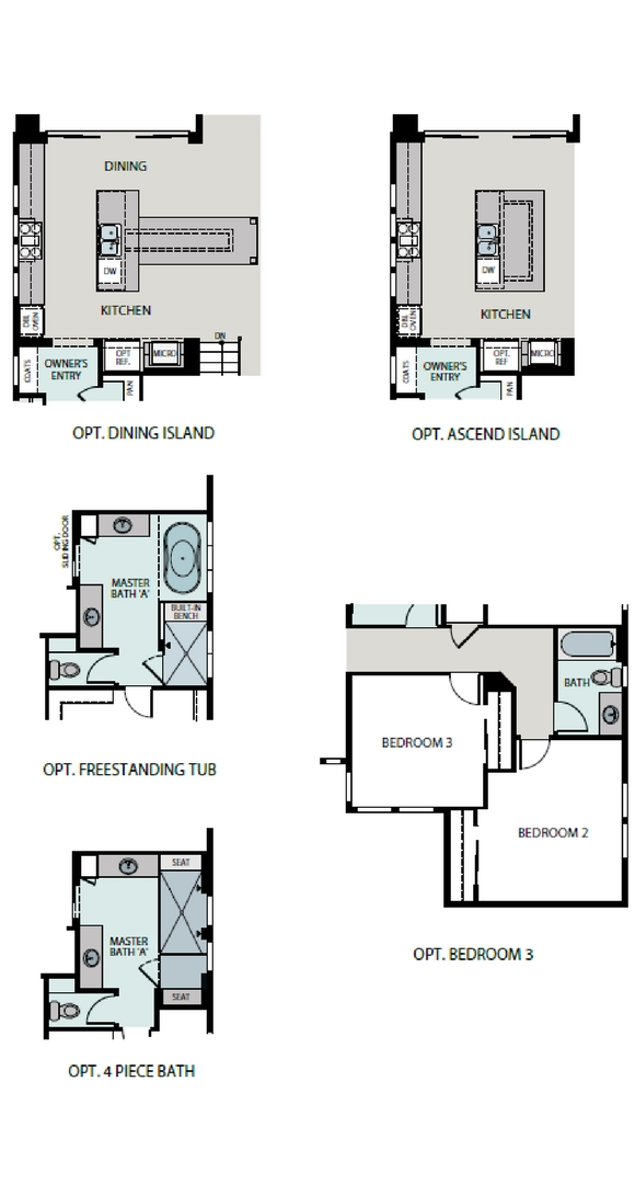 Escape floorplan options, a Beautiful Colorado Model New Home by Epic Homes