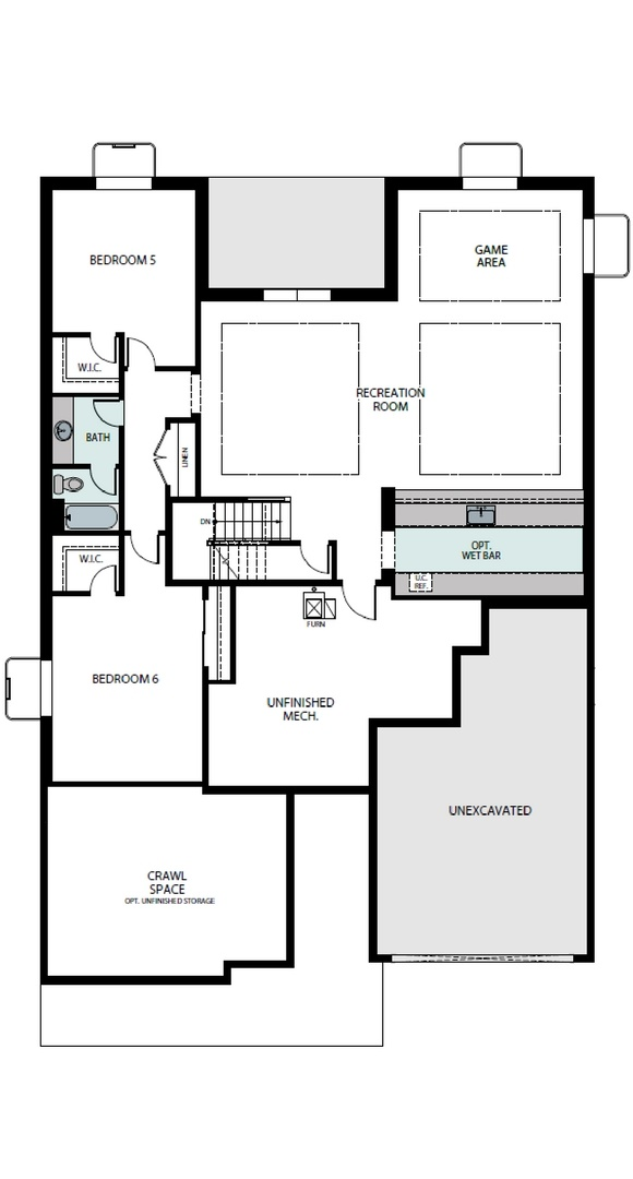 Aspire finished basement plan, a Beautiful Colorado Model New Home by Epic Homes