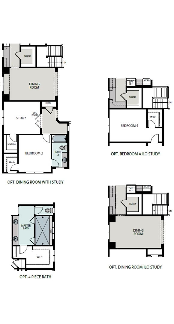 Aspire floorplan options, a Beautiful Colorado Model New Home by Epic Homes