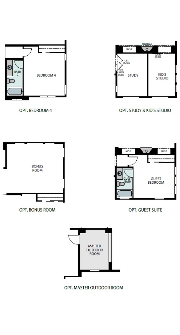 Ascend floorplan options, a Beautiful Colorado Model New Home by Epic Homes