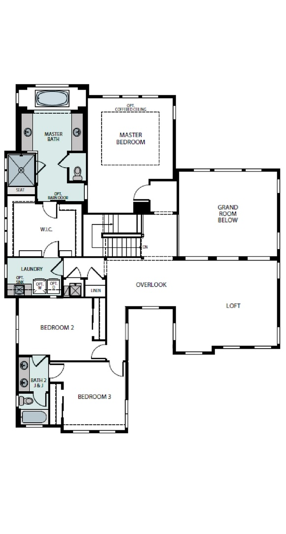 Ascend second level plan, a Beautiful Colorado Model New Home by Epic Homes