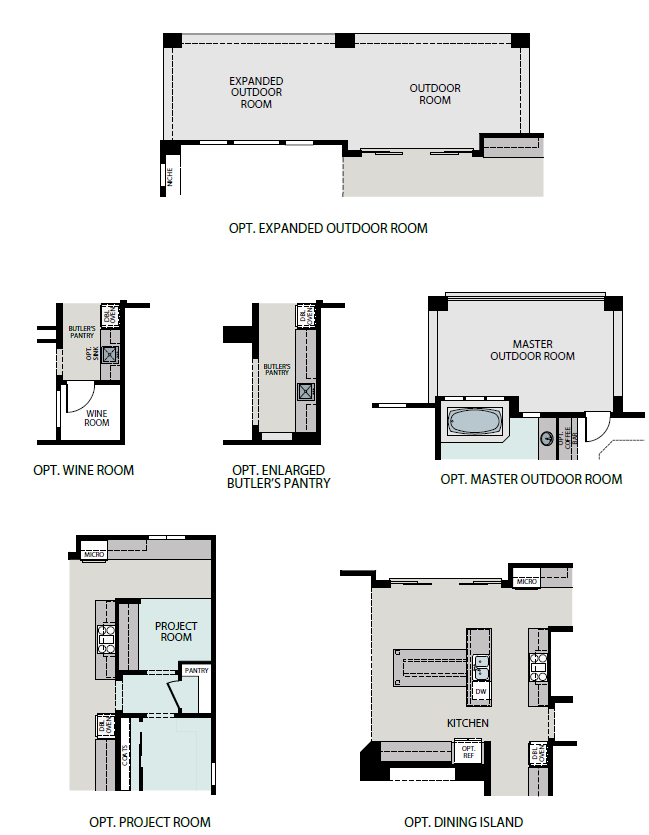 Summit floorplan options, a Beautiful Colorado Model New Home by Epic Homes