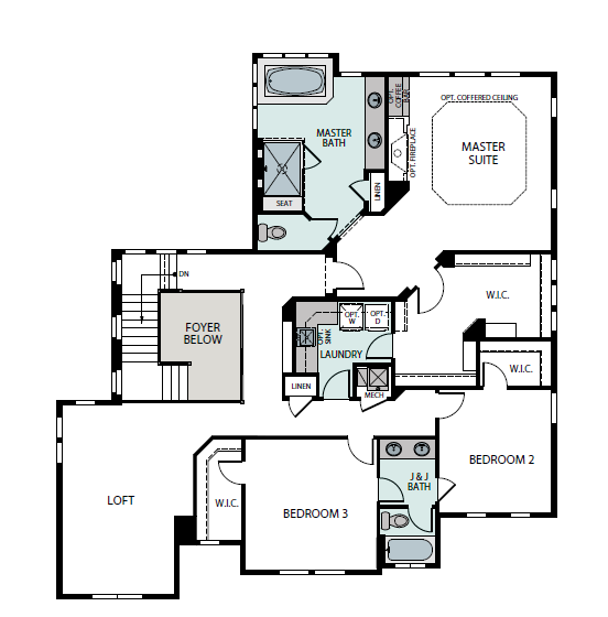 Summit second level plan, a Beautiful Colorado Model New Home by Epic Homes