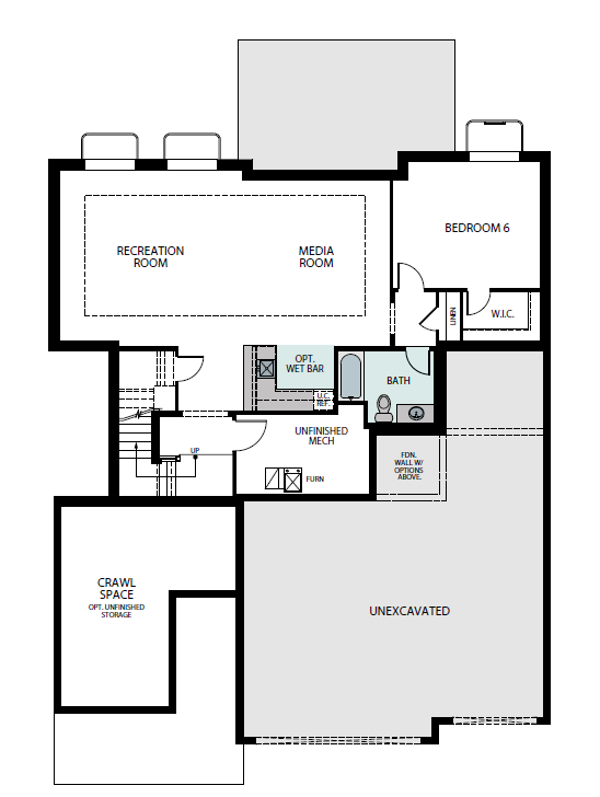 Summit finished basement plan, a Beautiful Colorado Model New Home by Epic Homes