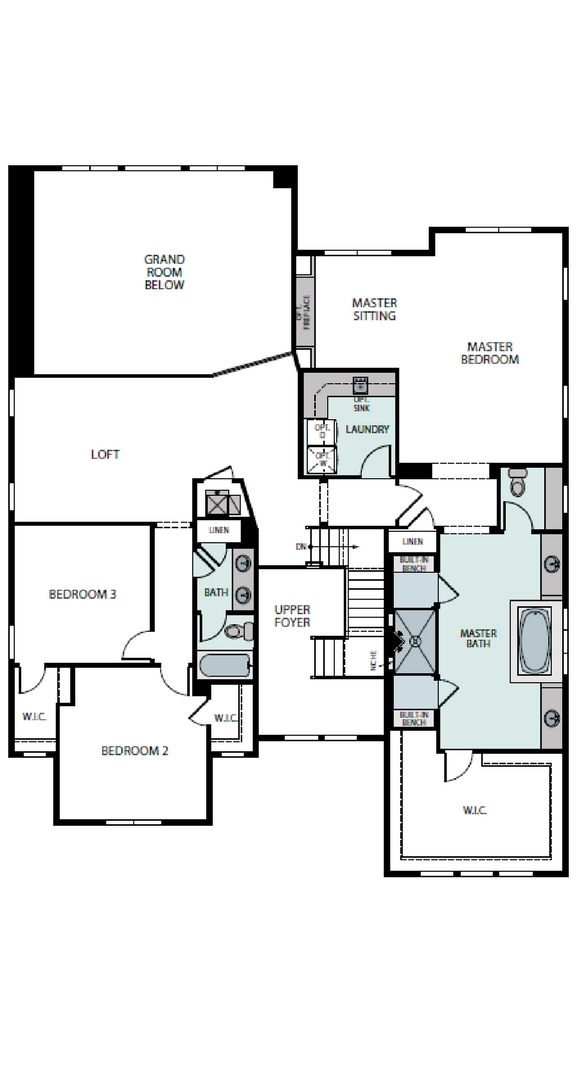 Pinnacle second level plan, a Beautiful Colorado Model New Home by Epic Homes