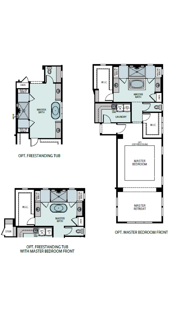Pinnacle floorplan options, a Beautiful Colorado Model New Home by Epic Homes