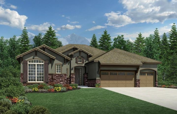 Montana, a Beautiful Colorado Model New Home by Toll Brothers (55+)