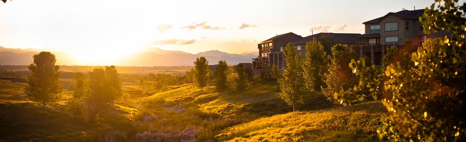 View of nature surrounding Anthem in Broomfield, CO | New Homes in Broomfield, Co from Anthem
