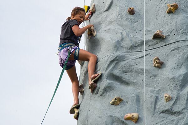 Girl Rock Climbing - Resident events in Anthem | New Homes in Broomfield Colorado