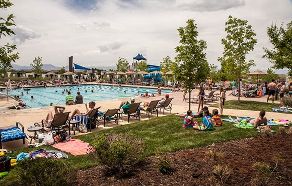 Community pool in Anthem Highlands Broomfield, CO