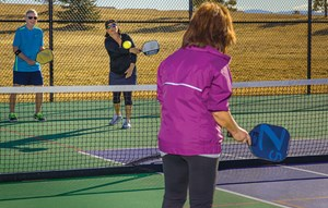 Pickleball courts in Anthem Ranch 55 Plus community Broomfield, CO