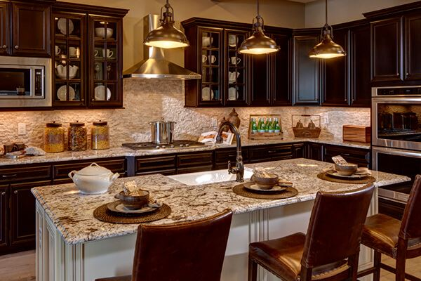 Toll Brothers Montana Kitchen in Anthem Ranch 55+ community