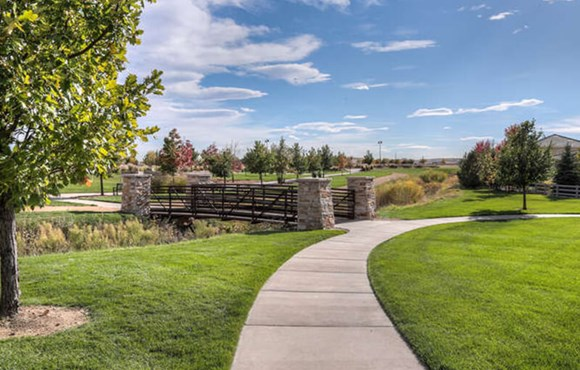 Paved trails in Anthem community in Broomfield Colorado