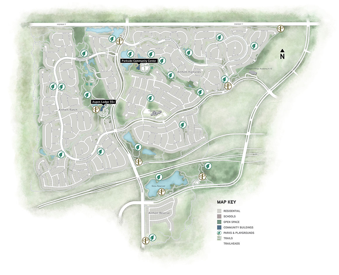 Broomfield Colorado Zip Code Map.Parks Trails In Broomfield Anthem Colorado