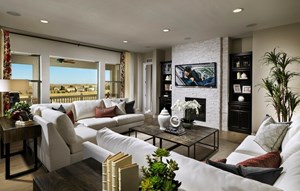 Residence 6C05 family room, a Beautiful Colorado Model New Home by CalAtlantic