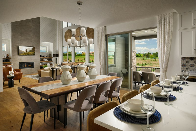 Pinnacle living room, a Beautiful Colorado Model New Home by Epic