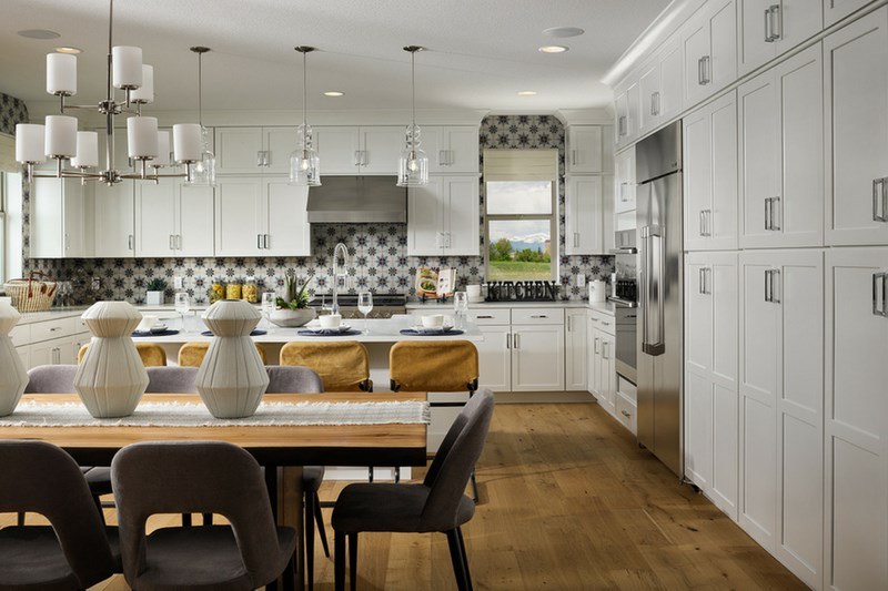 Pinnacle kitchen, a Beautiful Colorado Model New Home by Epic