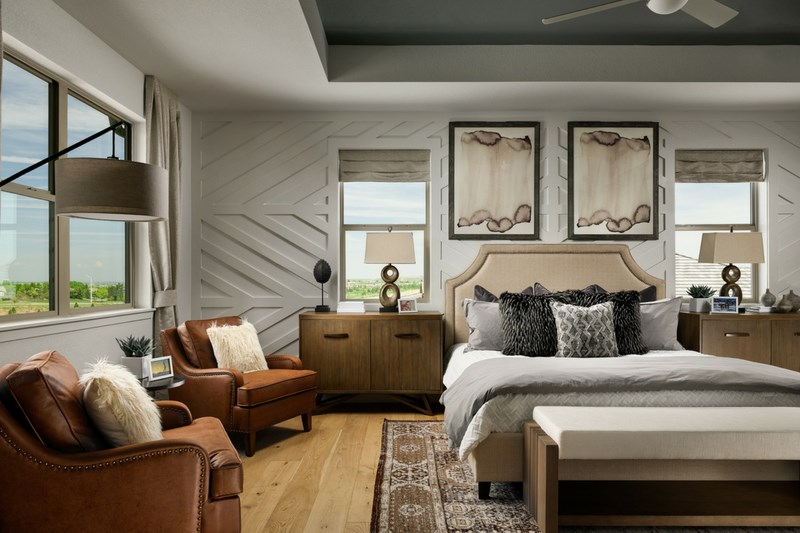 Pinnacle master bedroom, a Beautiful Colorado Model New Home by Epic