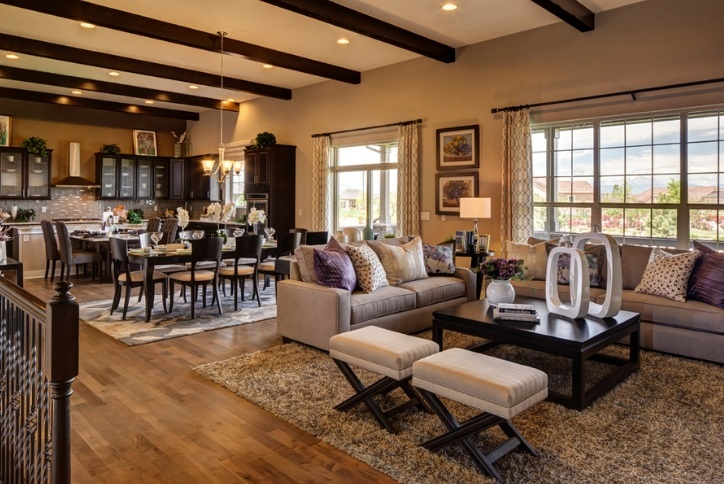 Toll Brothers Homes living room in Anthem Ranch 55 plus active adult community