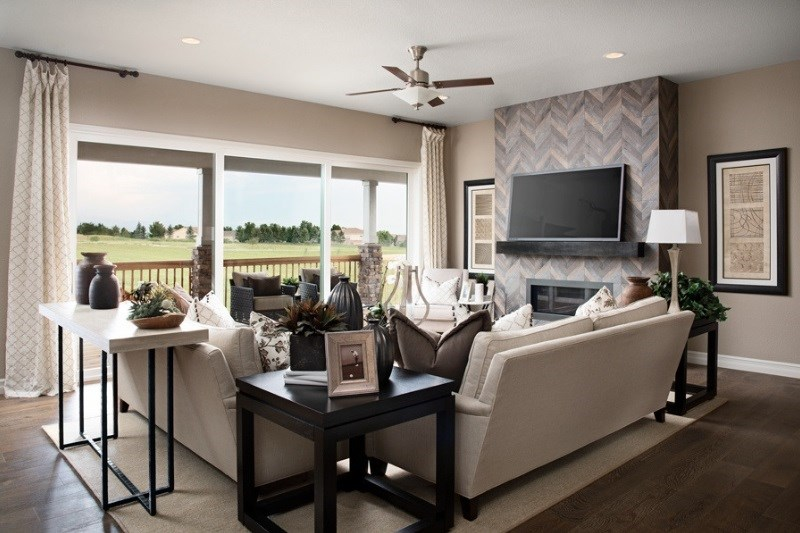 Dayton, a Beautiful Colorado Model New Home family room by Richmond American in Anthem