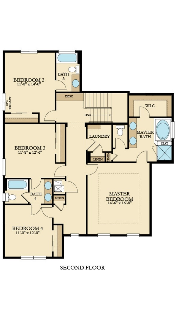 Brookside, a new home second level floorplan by Lennar at Anthem Highlands