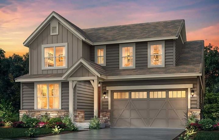 New home at 3067 Grizzly Peak Dr by Lennar in Anthem Colorado