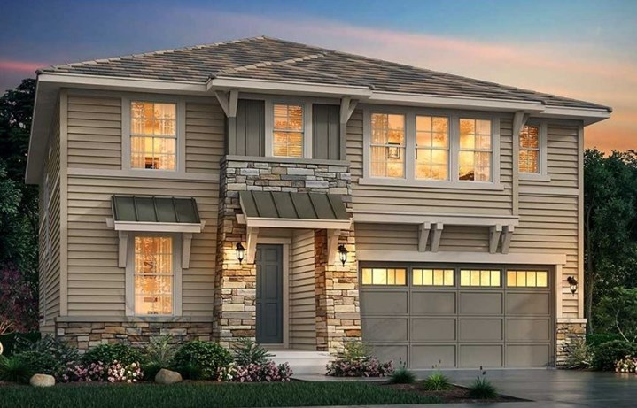 New home at 3062 Grizzly Peak Dr by Lennar | Anthem Colorado