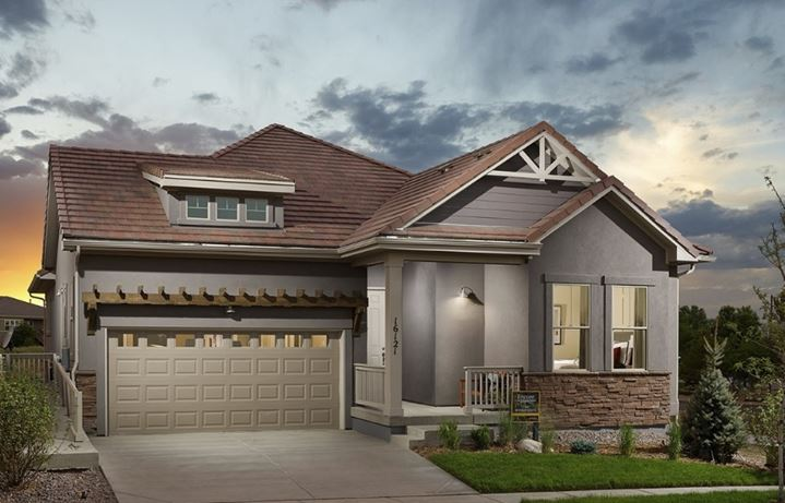 New home at 16121 Aspen Lodge Dr by David Weekley (55+) | Anthem Colorado