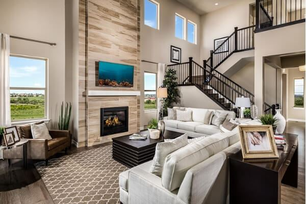 Model homes in Anthem Colorado master-planned community in Broomfield CO