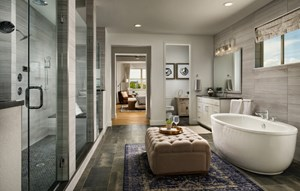 Bathroom in new home in Broomfield Colorado at Anthem master-planned community