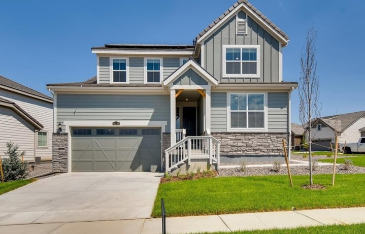 New home at 16234 Beckwith Run by Lennar | Anthem Colorado