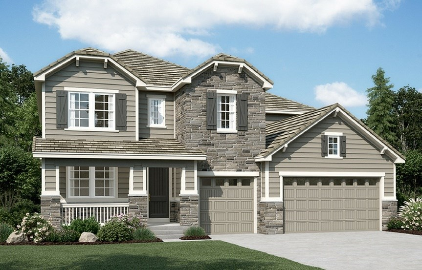 New home at 16277 Pikes Peak Dr by Richmond American | Anthem Highlands, Broomfield CO